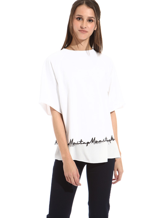 Embroidered hem sweatshirt Intrend