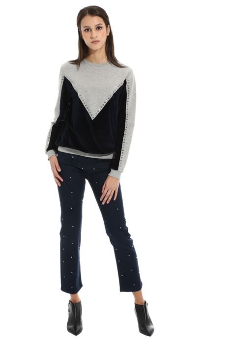 Cotton and velvet sweatshirt Intrend