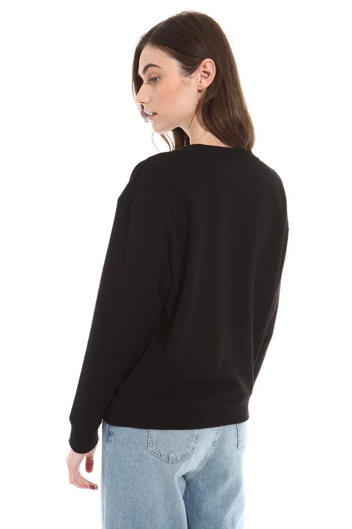Sequin jersey sweatshirt Intrend