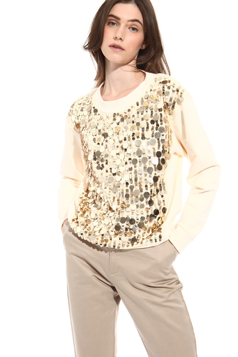 Sequin jersey sweatshirt Intrend