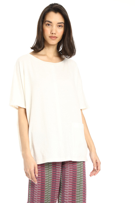 Single pocket linen tunic Intrend