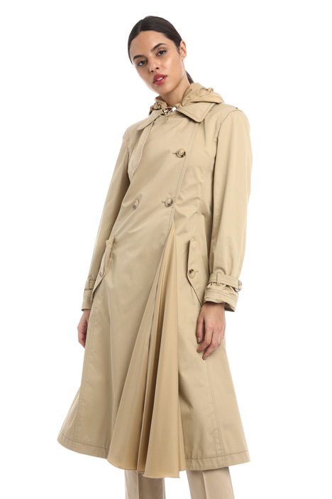Long pure cotton trench Intrend