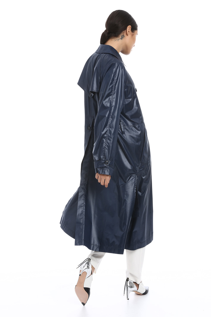 Shiny duster coat Intrend