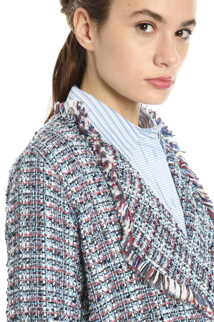 Bouclé cotton jacket Intrend
