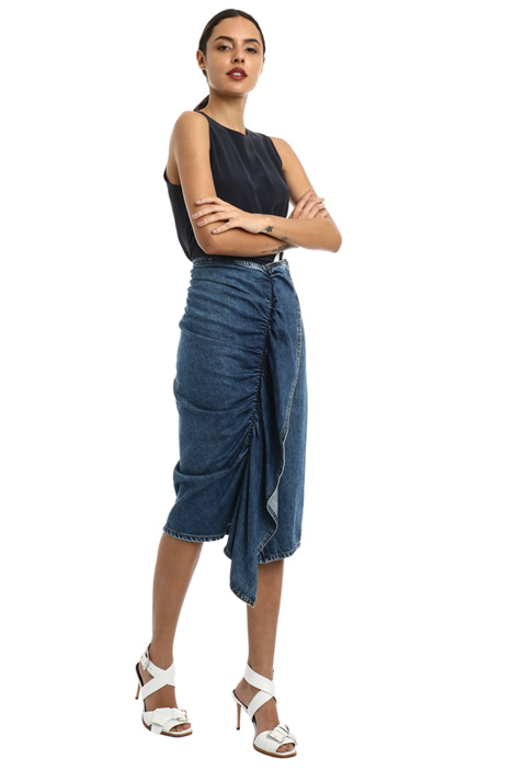Front flounce denim skirt Intrend