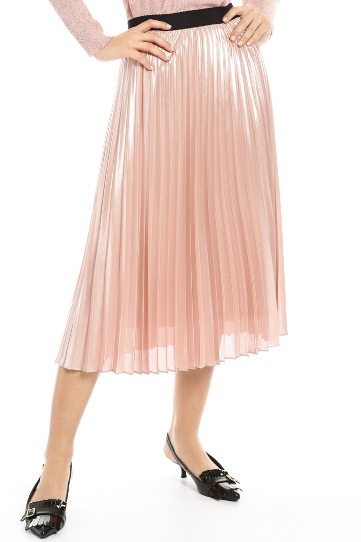 Laminated georgette skirt Intrend