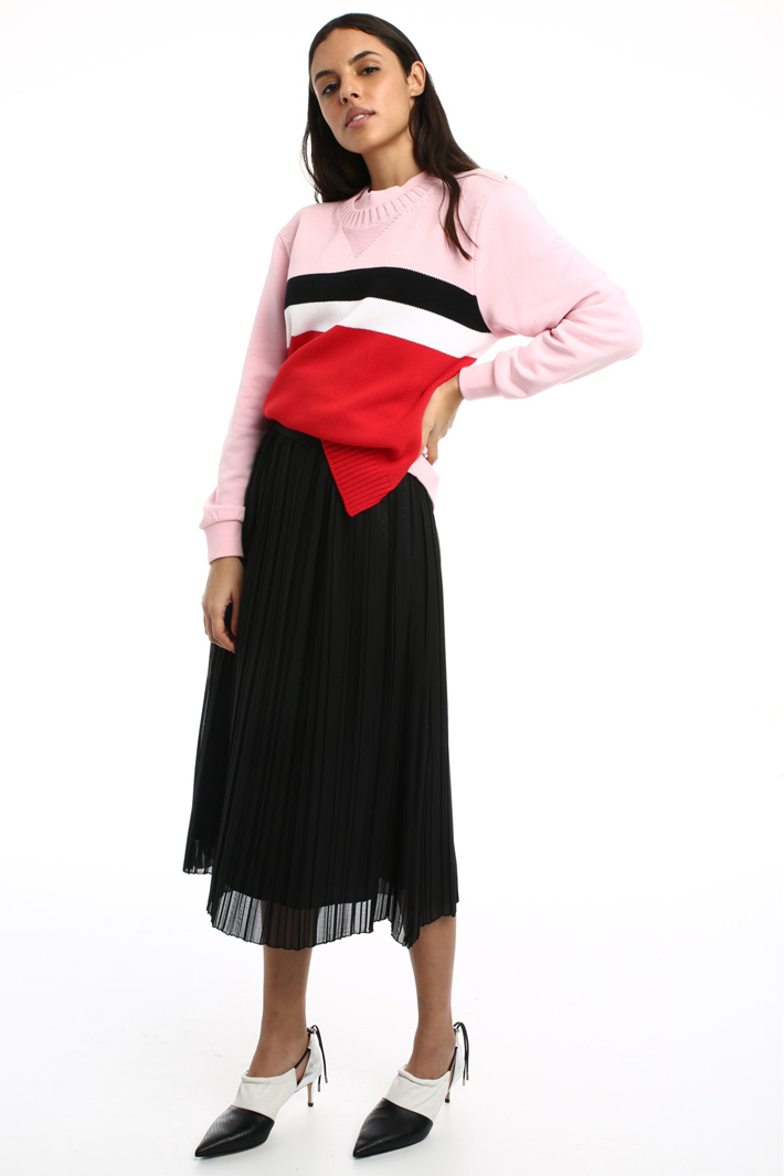 Laminated chiffon skirt Intrend