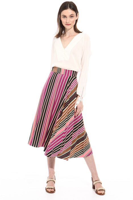 Midi twill skirt Intrend