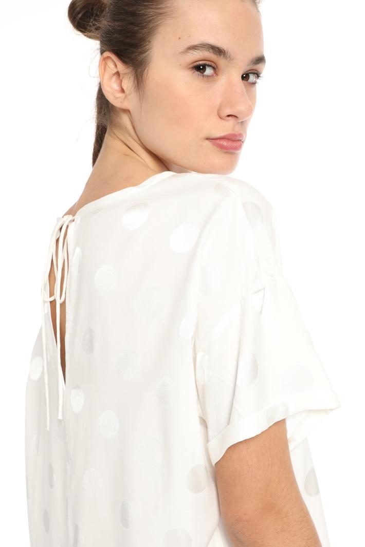 Jacquard viscose blouse Intrend