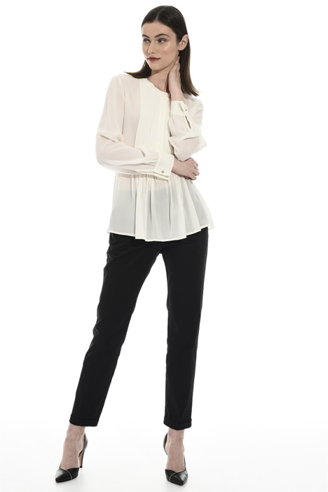 Silk blend crepe blouse Intrend