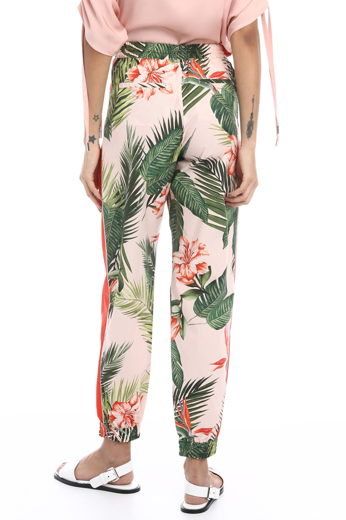 Printed jogging style trousers Intrend