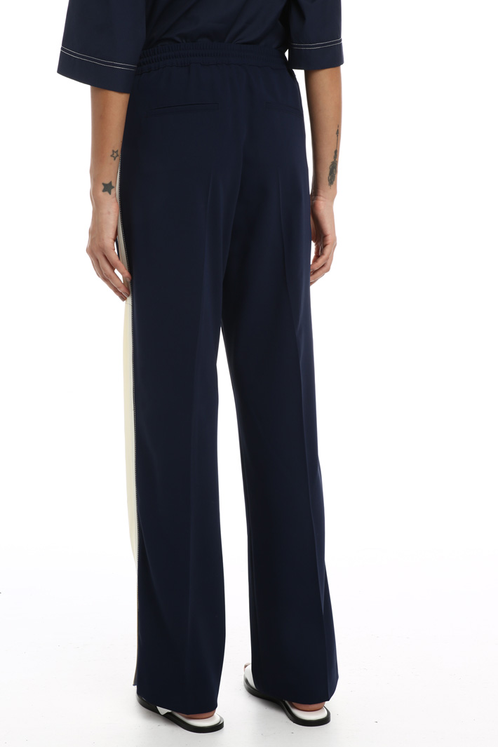 Jogging style cady trousers Intrend
