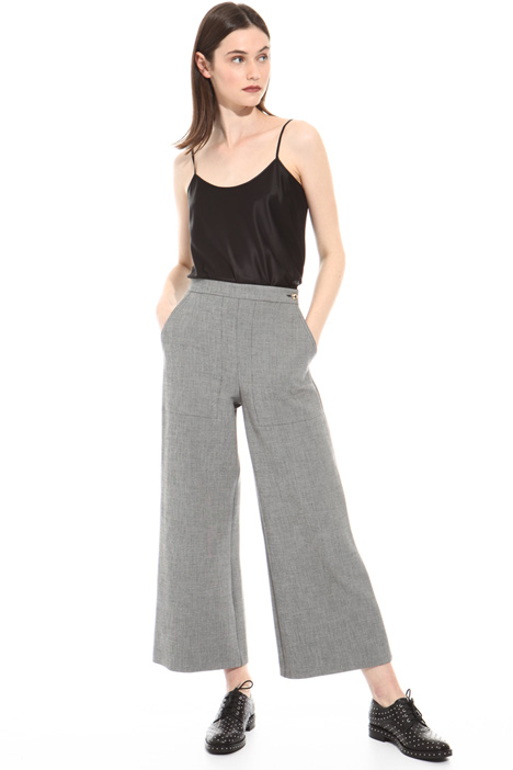 Yarn-dyed palazzo trousers Intrend