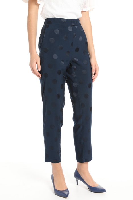 Fluid jacquard trousers Intrend