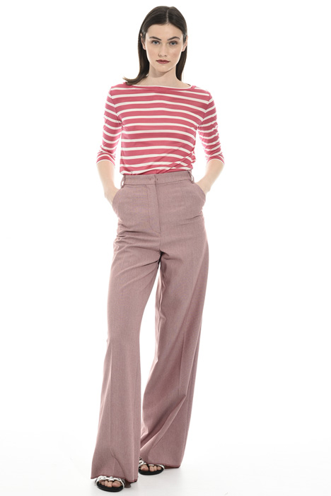 Flared yarn-dyed trousers Intrend