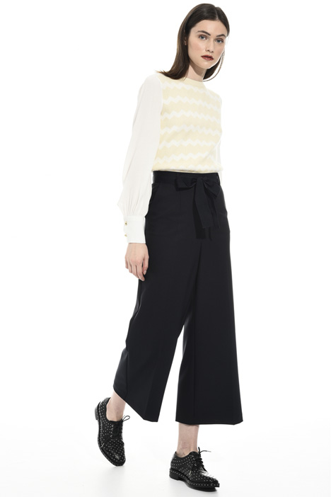 Yarn-dyed viscose trousers Intrend