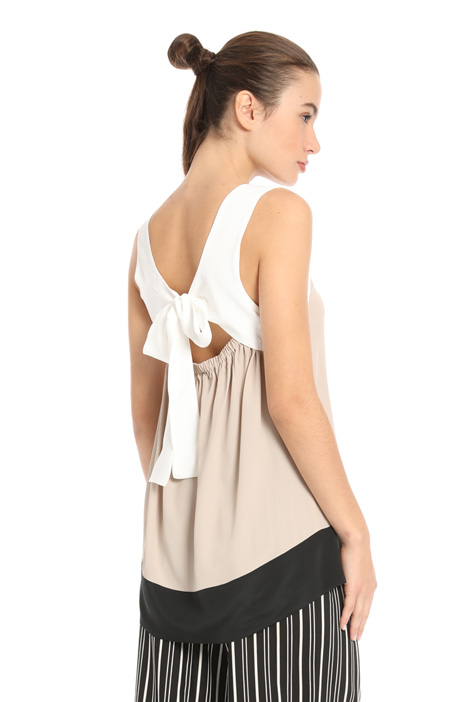 Silk blend top Intrend