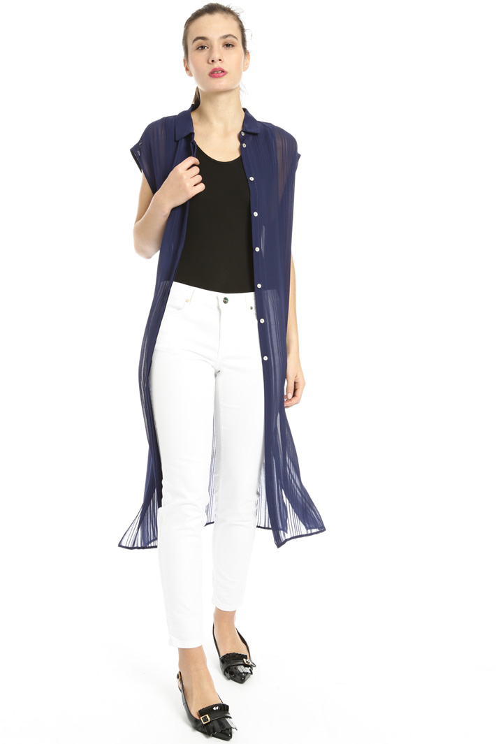 Long georgette shirt Intrend