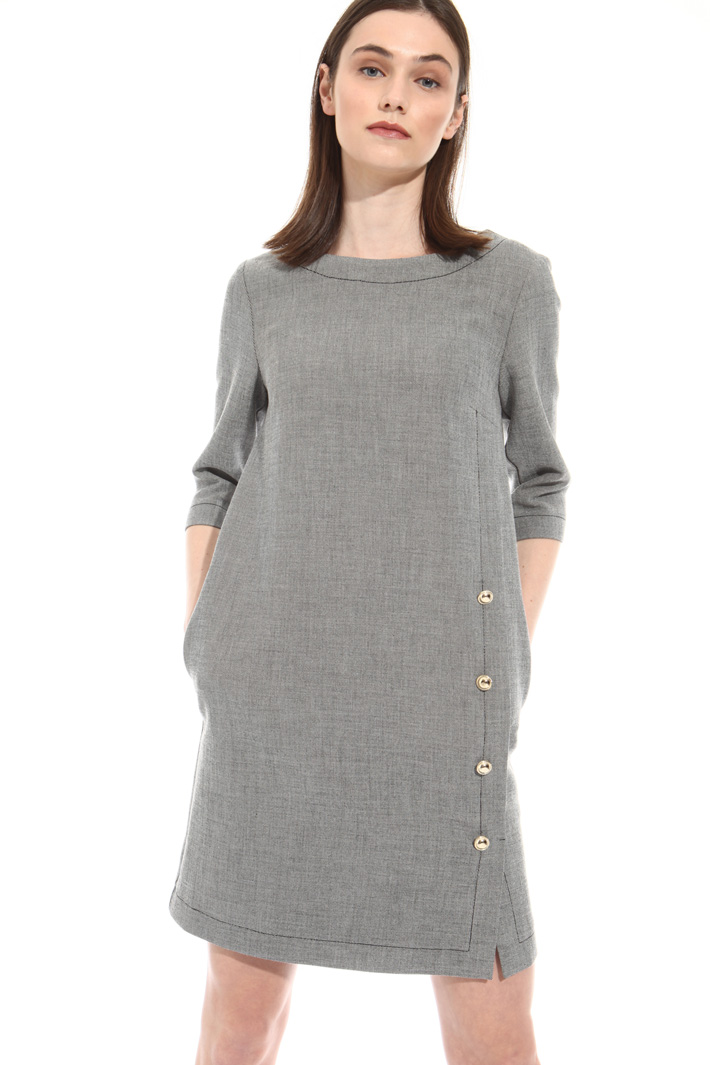 Buttoned dress Intrend