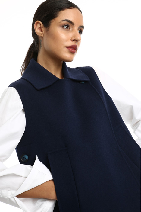 Double-breasted wool vest  Intrend