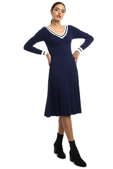 Ribbed viscose dress Intrend
