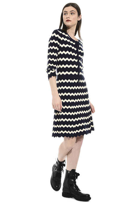 Flared knit dress Intrend