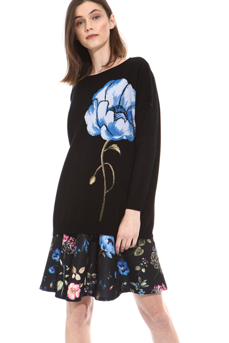 Maxi flower sweater Intrend