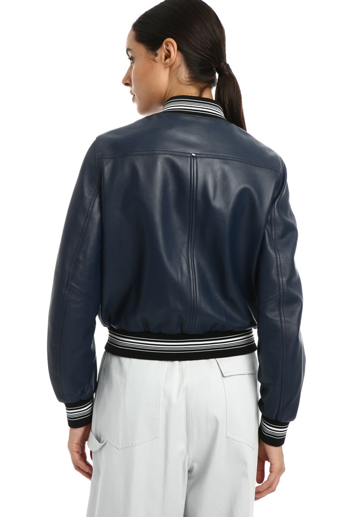 Leather bomber jacket Intrend