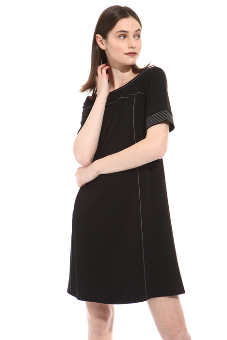 Jersey crepe flared dress Intrend