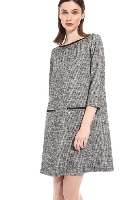 Front pocket jacquard dress Intrend