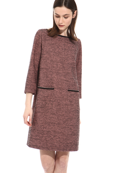 Front pocket jacquard dress Intrend