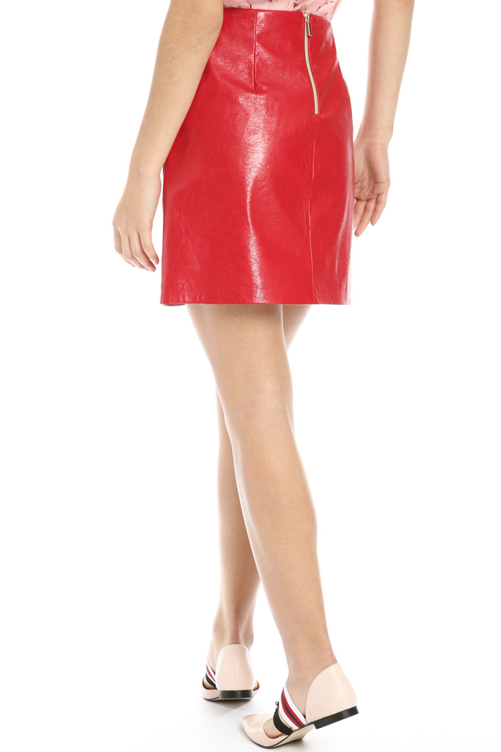 Faux leather mini skirt Intrend