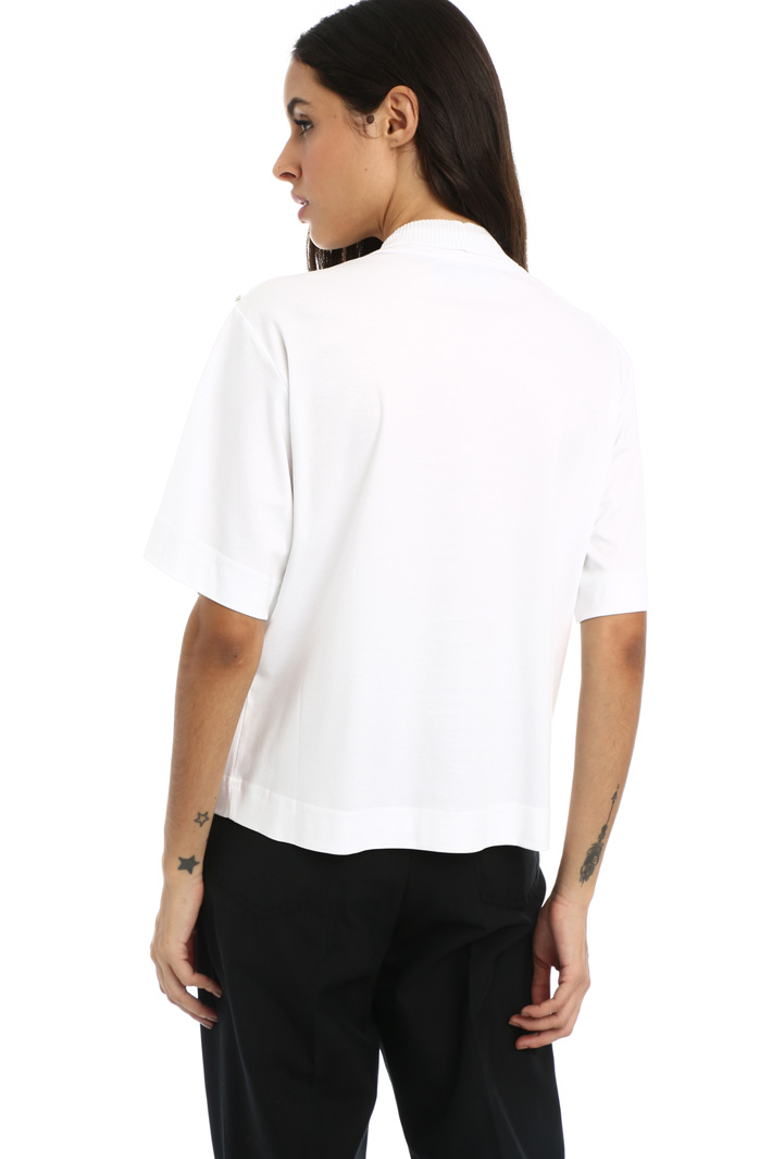 T-shirt with knit insert Intrend