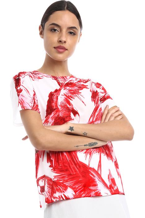Silk crepe T-shirt Intrend