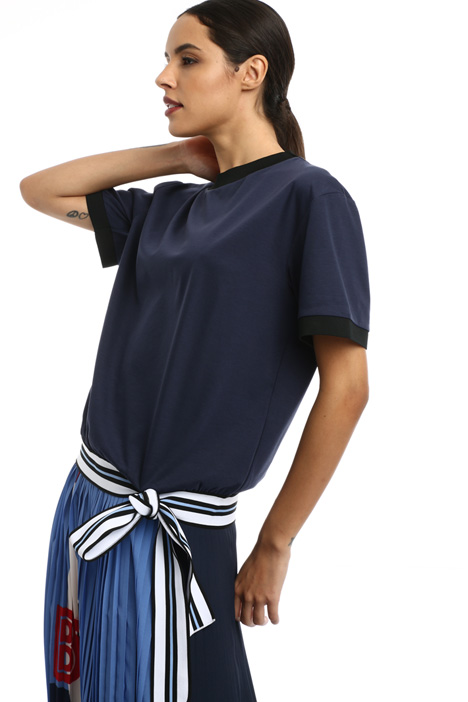 T-shirt with knitted detail Intrend