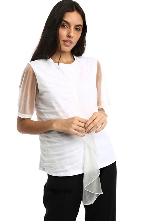 T-shirt in voile di cotone Intrend