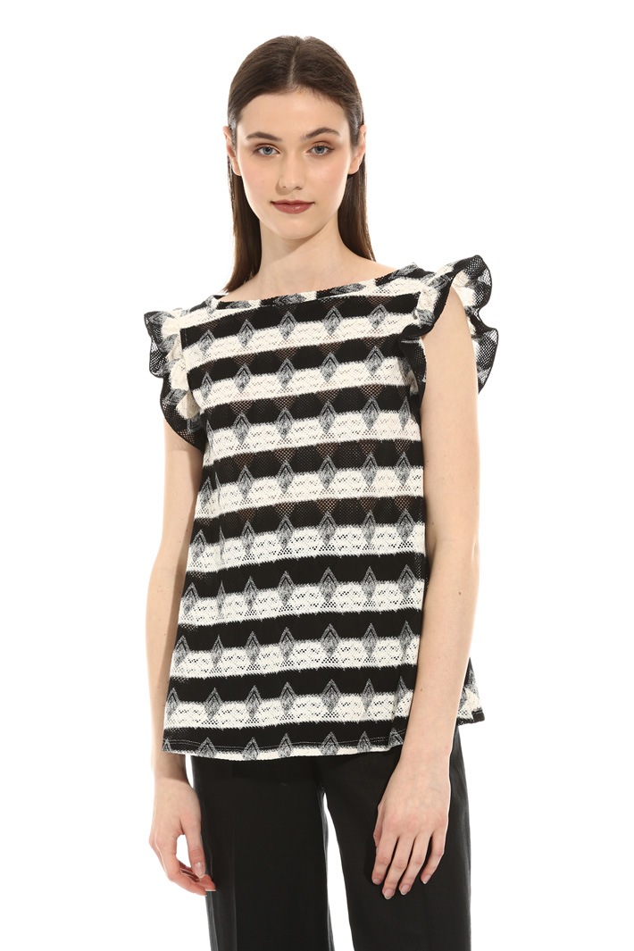 Perforated jersey T-shirt Intrend