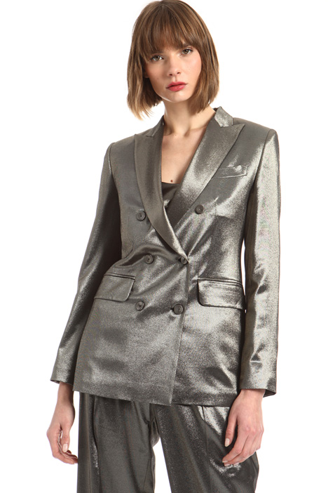 Metallic fabric blazer Intrend