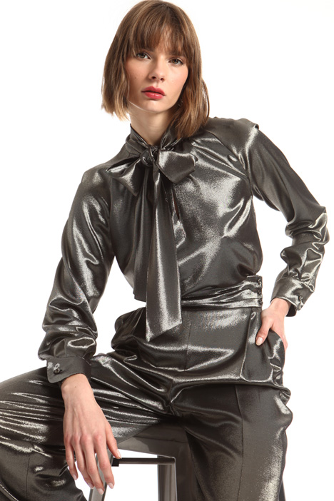 Metallic silk blouse Intrend