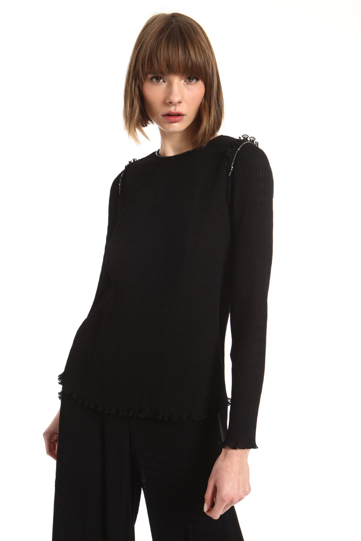 Pleated georgette blouse Intrend