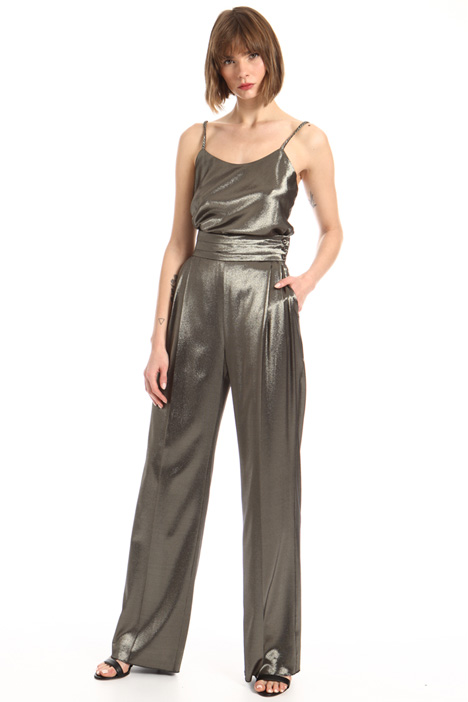 Metallic silk trousers Intrend