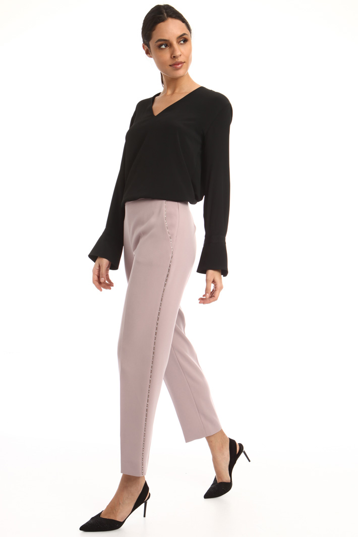 Cady trousers with beads Intrend