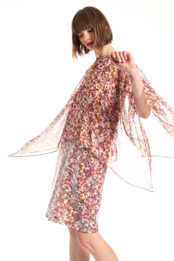 Silk georgette cape Intrend