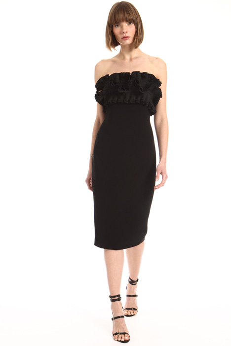 Frilled bodice sheath dress Intrend