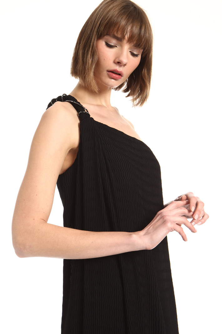 Georgette and satin dress Intrend