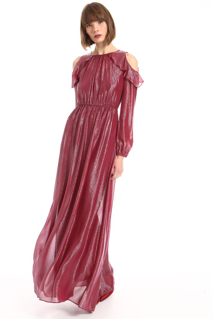 Cold shoulder georgette dress Intrend
