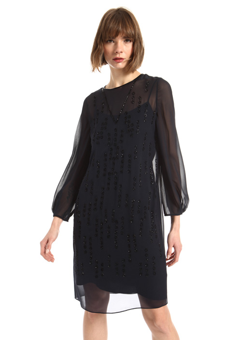 Long sleeve georgette dress Intrend