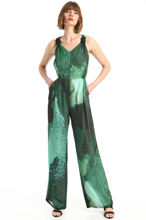 Sleeveless silk jumpsuit Intrend