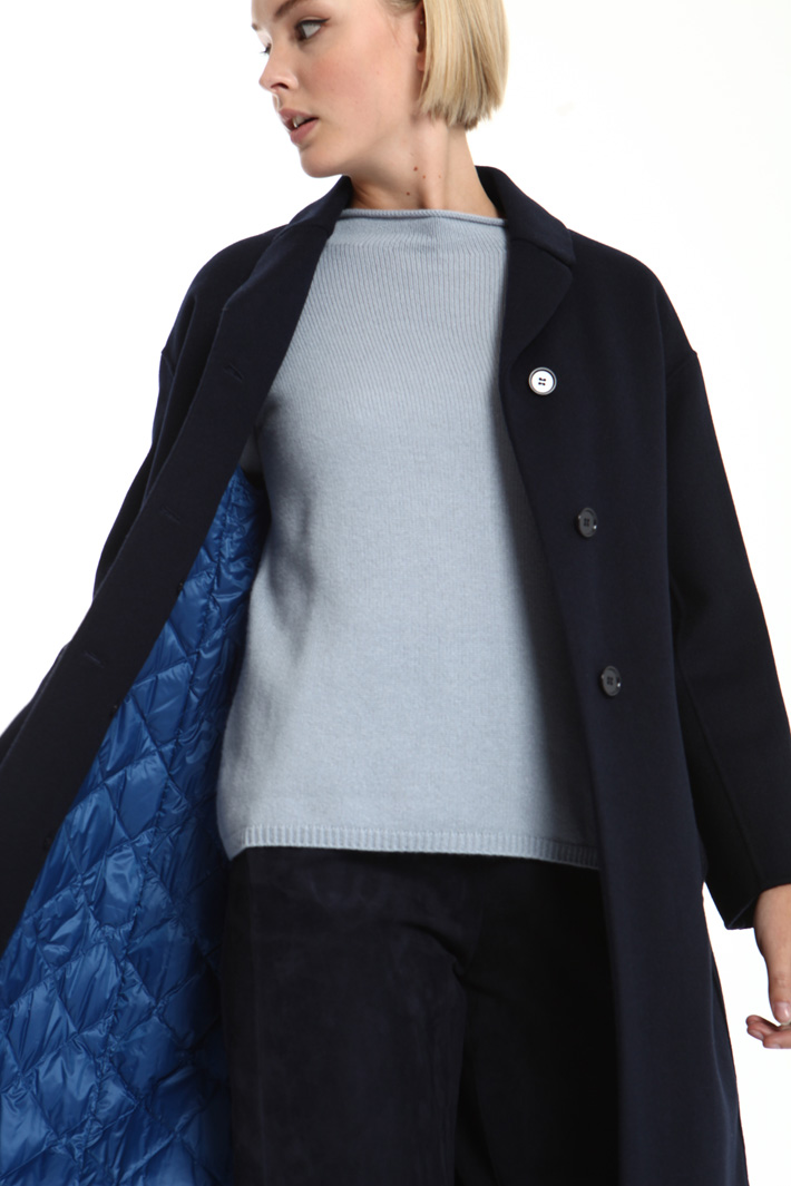 Double wool and angora coat Intrend