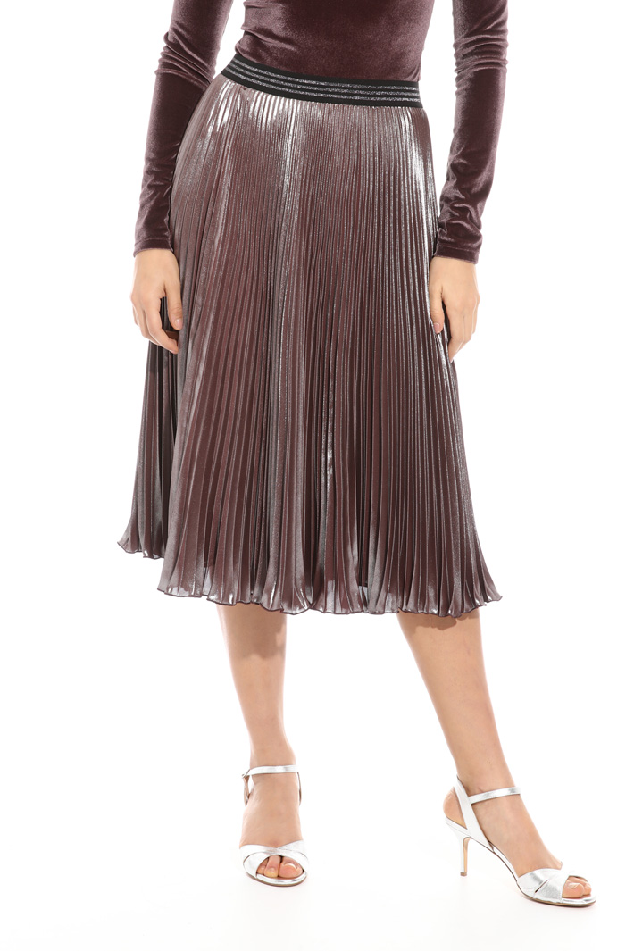 Pleated georgette skirt Intrend